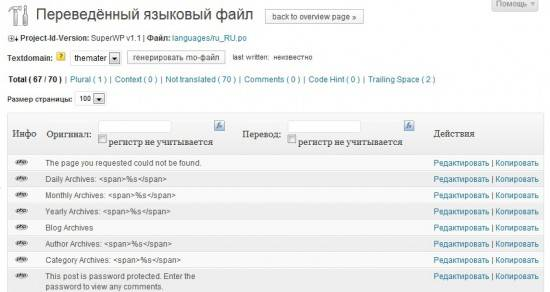 Codestyling Localization редакт файла локализации