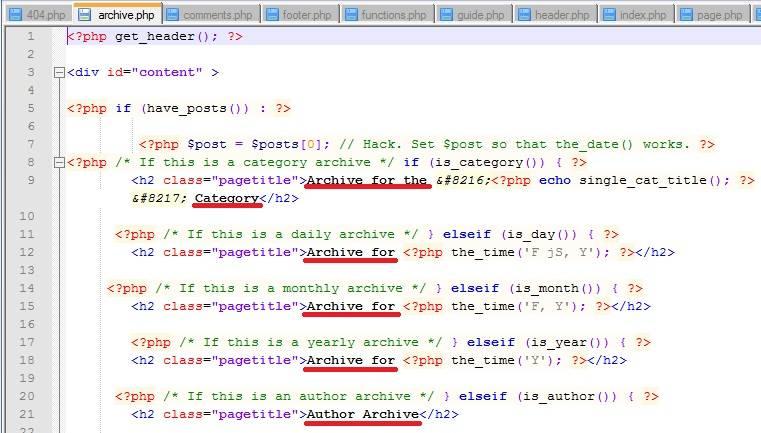 кусок кода одного из файлов шаблона