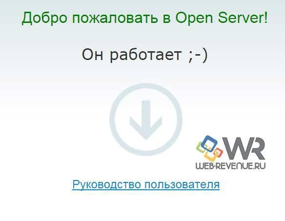 Добро пожаловать в Open Server