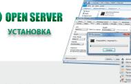 Установка Open Server
