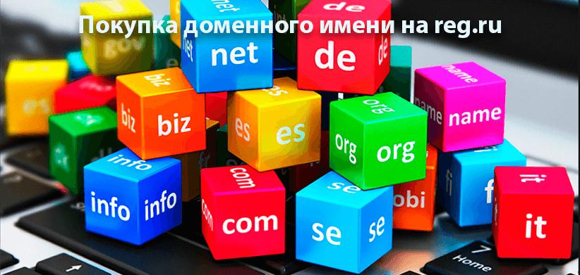Как купить доменное имя на reg.ru