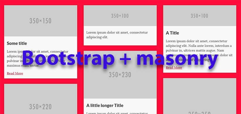 Bootstrap + masonry