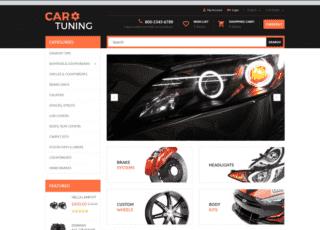 OpenCart шаблон на тему тюнинг авто