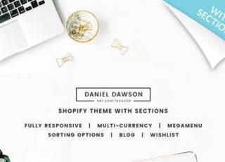 Shopify шаблон на тему домашний декор