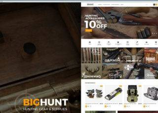 Шаблон Magento на тему охота