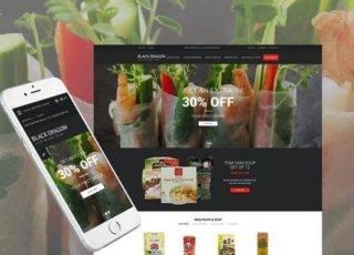 OpenCart шаблон на тему продуктовый магазин