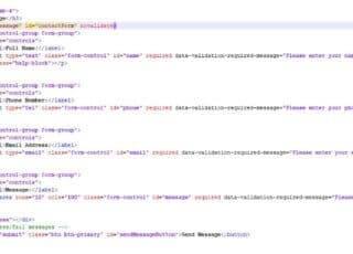 HTML код стандартной формы на bootstrap 4